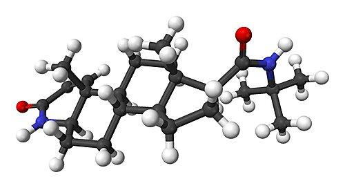 图:finasteride的分子立体结构